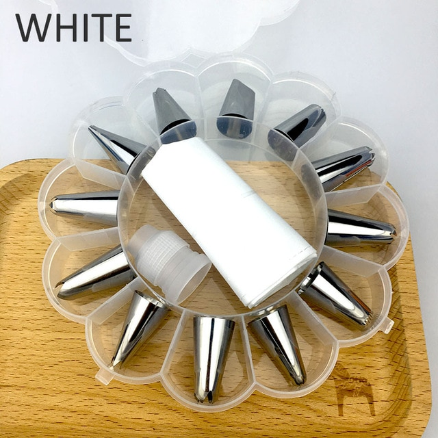 12 to 26Pcs Cake Decorating Tools Pipe Icing Nozzles Baking Supplies Stainless Steel Dessert Decoration Kitchen Accessories|Decorating Tip Sets| – 14pcs box-packed [29] 9