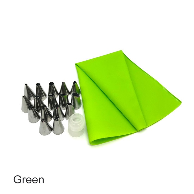 12 to 26Pcs Cake Decorating Tools Pipe Icing Nozzles Baking Supplies Stainless Steel Dessert Decoration Kitchen Accessories|Decorating Tip Sets| – 18pcs OPP bag [94] 16