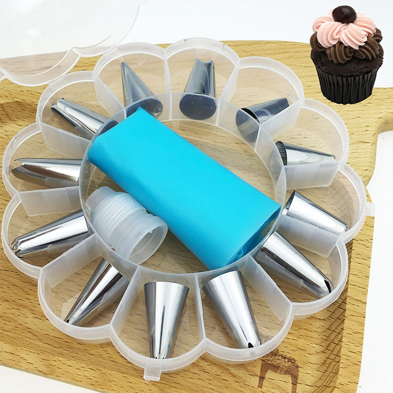 12 to 26Pcs Cake Decorating Tools Pipe Icing Nozzles Baking Supplies Stainless Steel Dessert Decoration Kitchen Accessories|Decorating Tip Sets| 1