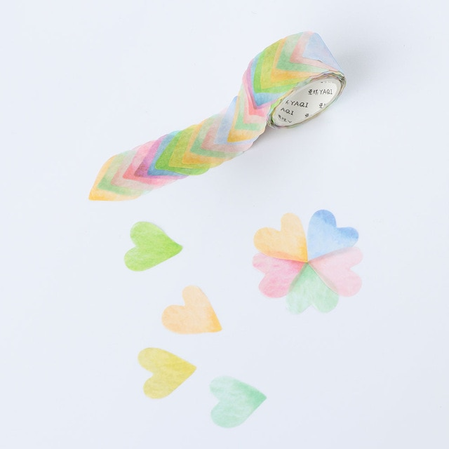 200PCS/Roll Flower Petals Washi Tape DIY Scrapbooking Diary Paper Stickers Roll Cute Adhesive Paper Tape Stationery Sticker Office Adhesive Tape  – 11 17