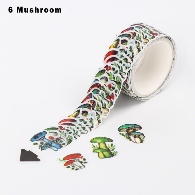 200PCS/Roll Flower Petals Washi Tape DIY Scrapbooking Diary Paper Stickers Roll Cute Adhesive Paper Tape Stationery Sticker Office Adhesive Tape  – 21 26