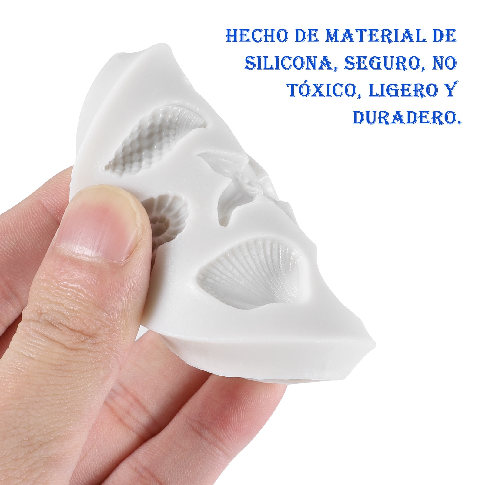 3D Seashell Ice Mold Starfish Ice Trays Conch Shaped Ice Moulds Fondant Mold for Kitchen Baking Pastry Candy Making Tool Cake Molds  3