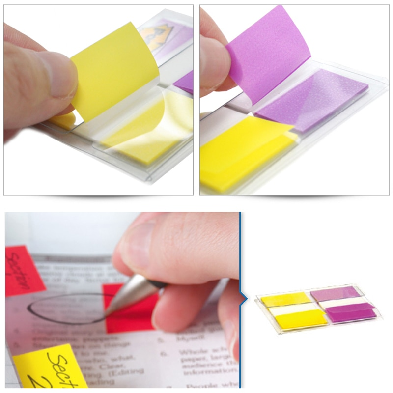 3M Post it Big size 25mm*44mm Indication Label 2 Colors Index Sticky Notes Classification Paste Memo Pad Big Brand Trustworthy Memo Pads  2
