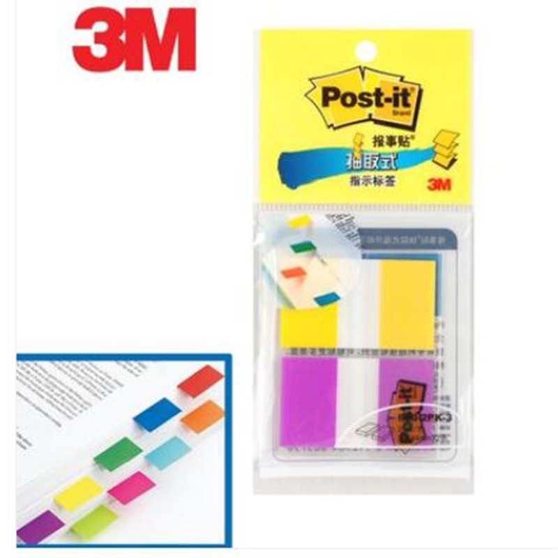 3M Post it Big size 25mm*44mm Indication Label 2 Colors Index Sticky Notes Classification Paste Memo Pad Big Brand Trustworthy Memo Pads  3