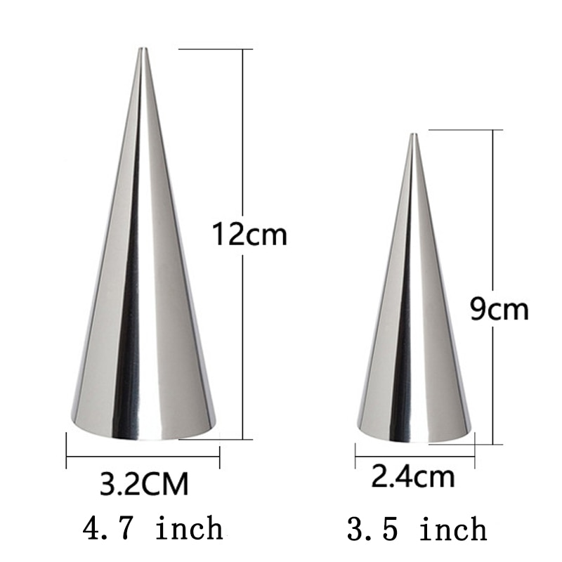 5/10Pcs Conical Tube Cone Roll Moulds Spiral Croissants Molds Cream Horn Mould Pastry Mold Cookie Dessert Kitchen Baking Tool Baking & Pastry Spatulas  2