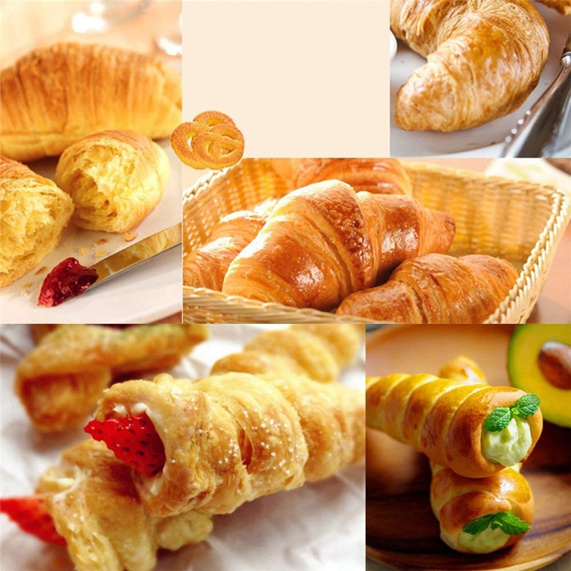 5/10Pcs Conical Tube Cone Roll Moulds Spiral Croissants Molds Cream Horn Mould Pastry Mold Cookie Dessert Kitchen Baking Tool Baking & Pastry Spatulas  5