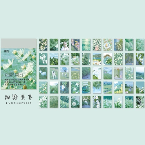 50 sheets Landscape rose ins Decorative Stickers Scrapbooking Stick Label Diary Album stationery painting Sticker Accessories|Assorted Stickers| – 7 11