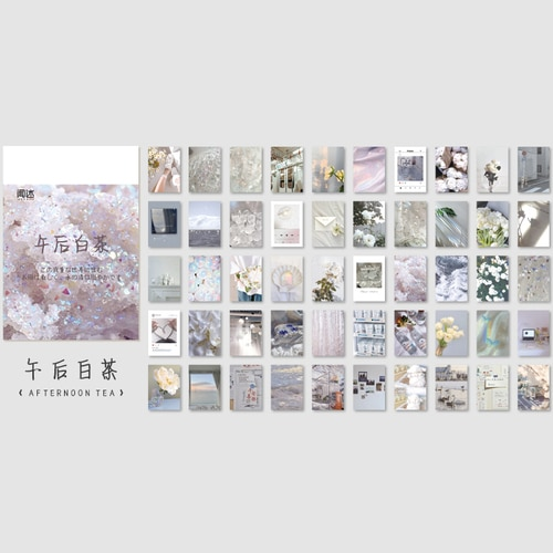 50 sheets Landscape rose ins Decorative Stickers Scrapbooking Stick Label Diary Album stationery painting Sticker Accessories|Assorted Stickers| – 9 13