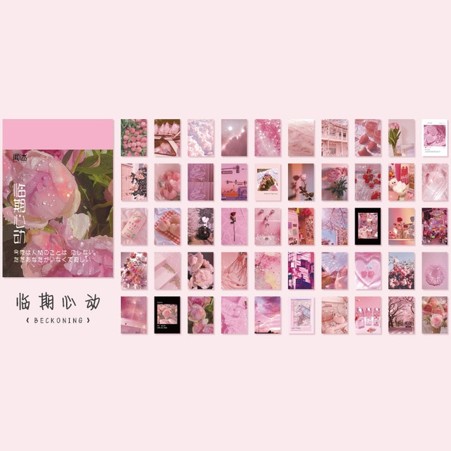 50 sheets Landscape rose ins Decorative Stickers Scrapbooking Stick Label Diary Album stationery painting Sticker Accessories|Assorted Stickers| – 11 15