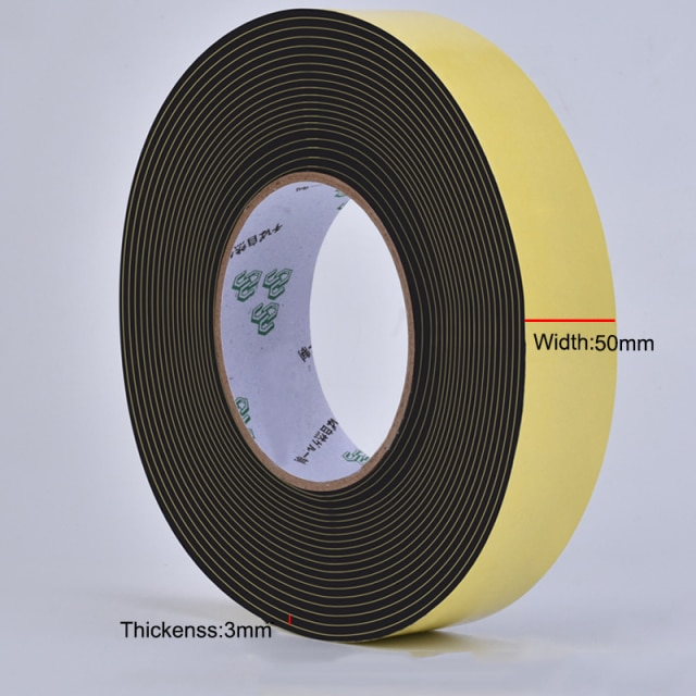 5M Sealing Foam Tape Strong Adhesive Sponge Mounting One Sided Seal Tape Pad Door Window Sound Insulation Sticky 3mm Thickenss|Double Sided Tape| – 50mmX5mX3mm 15