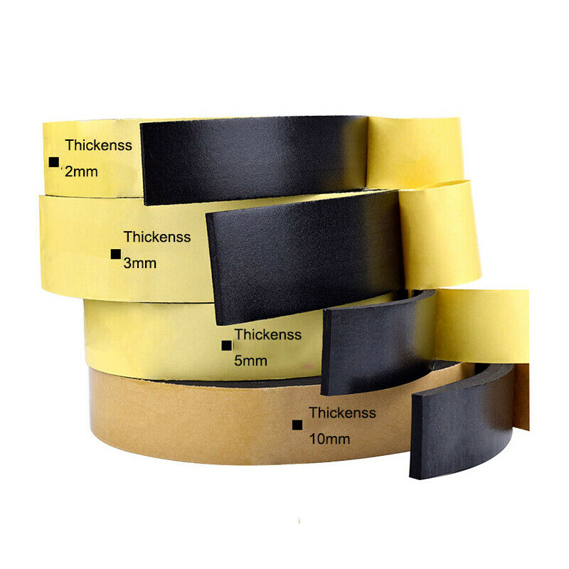 5M Sealing Foam Tape Strong Adhesive Sponge Mounting One Sided Seal Tape Pad Door Window Sound Insulation Sticky 3mm Thickenss|Double Sided Tape| 2
