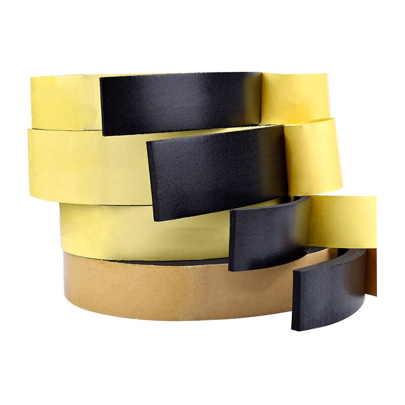 5M Sealing Foam Tape Strong Adhesive Sponge Mounting One Sided Seal Tape Pad Door Window Sound Insulation Sticky 3mm Thickenss|Double Sided Tape| 1