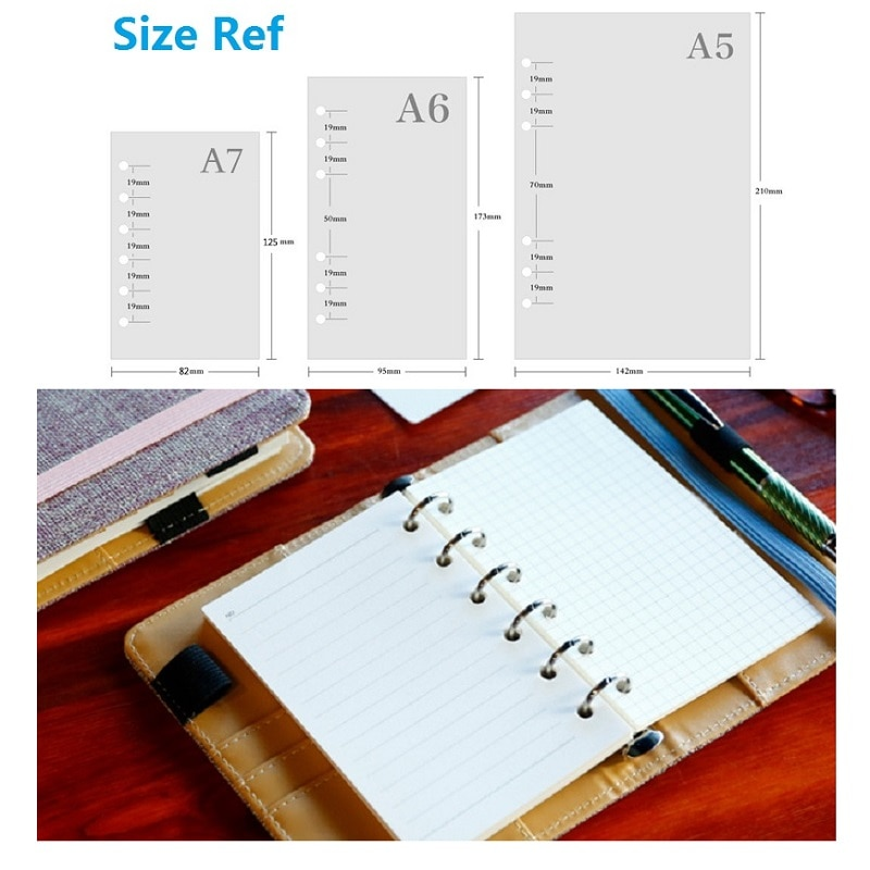 A5 A6 A7 Loose Leaf Notebook Refill Spiral Binder Planner Inner Page Inside Paper Dairy Weekly Monthly Plan To do Line Dot grid monthly plan spiral binderdot grid 4