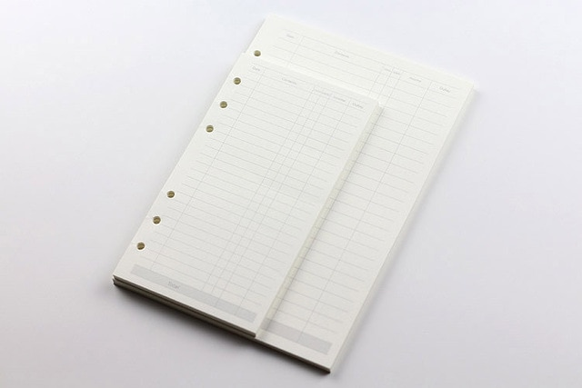 A5 A6 A7 Loose Leaf Notebook Refill Spiral Binder Planner Inner Page Inside Paper Dairy Weekly Monthly Plan To do Line Dot grid monthly plan spiral binderdot grid – Finance Account 14