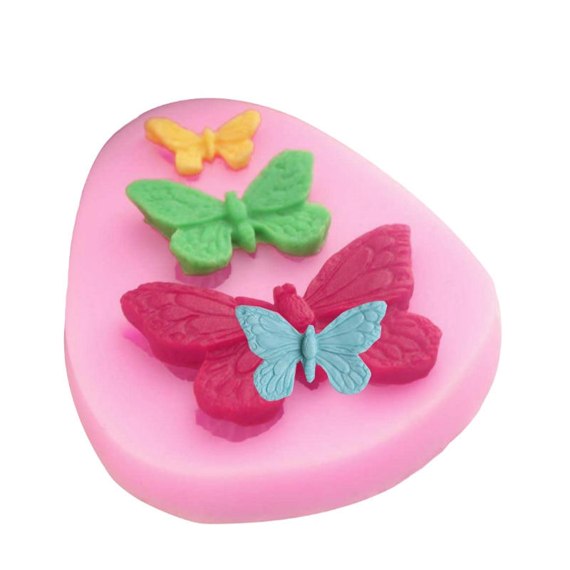 Butterfly Mold Silicone Baking Accessories 3D DIY Sugar Craft Chocolate Cutter Mould Fondant Cake Decorating Tool 3 Colors| | 4