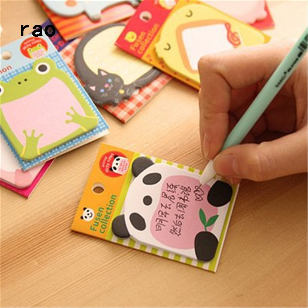 Charming 070 Animal Series Memo Pad Sticky Notes Bookmark Point It Sticker Paper office School Supplies Writing Pads Notebooks|Memo Pads| 3