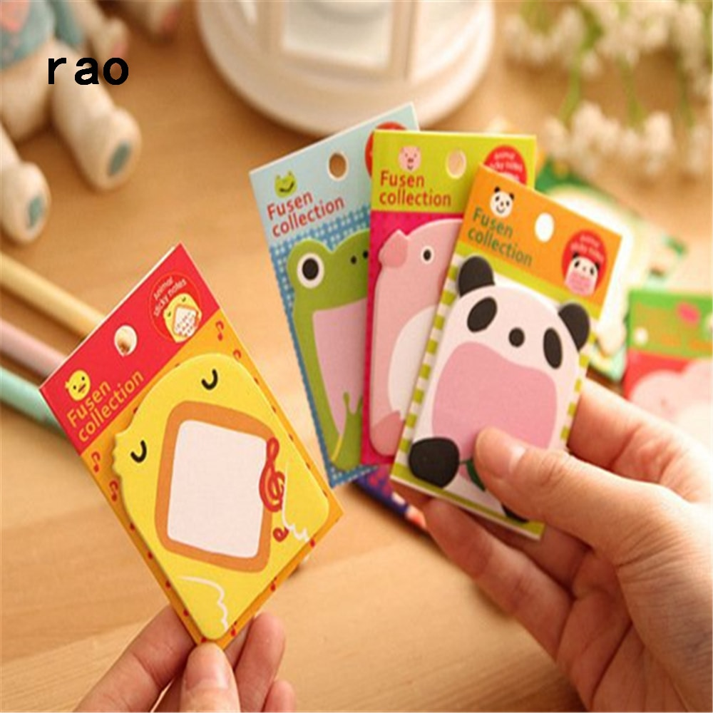 Charming 070 Animal Series Memo Pad Sticky Notes Bookmark Point It Sticker Paper office School Supplies Writing Pads Notebooks|Memo Pads| 4