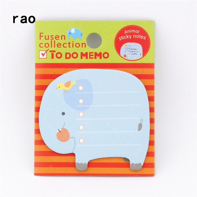 Charming 070 Animal Series Memo Pad Sticky Notes Bookmark Point It Sticker Paper office School Supplies Writing Pads Notebooks|Memo Pads| – You-074 10