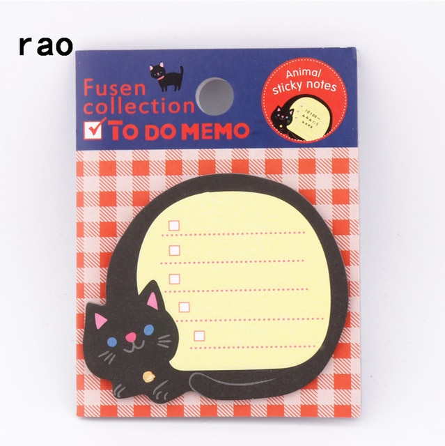 Charming 070 Animal Series Memo Pad Sticky Notes Bookmark Point It Sticker Paper office School Supplies Writing Pads Notebooks|Memo Pads| – You-075 11