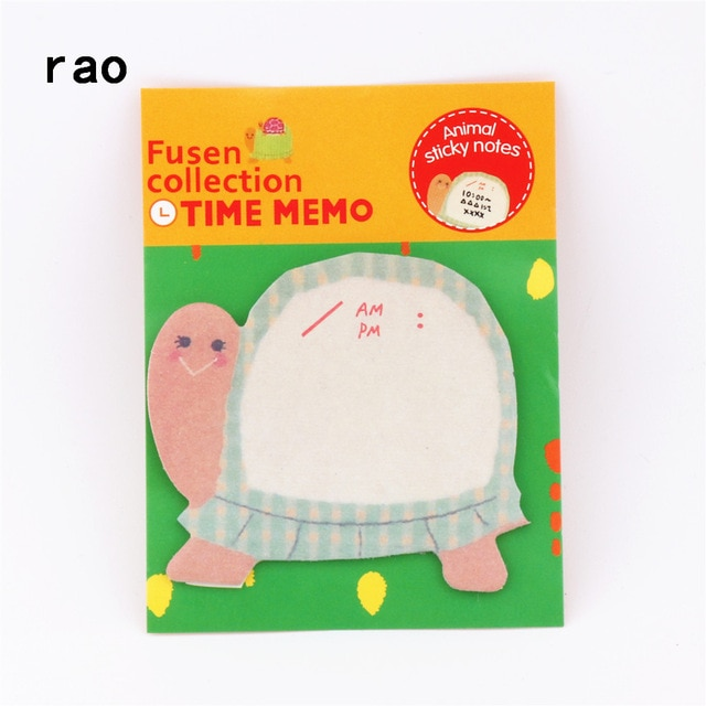 Charming 070 Animal Series Memo Pad Sticky Notes Bookmark Point It Sticker Paper office School Supplies Writing Pads Notebooks|Memo Pads| – You-076 12