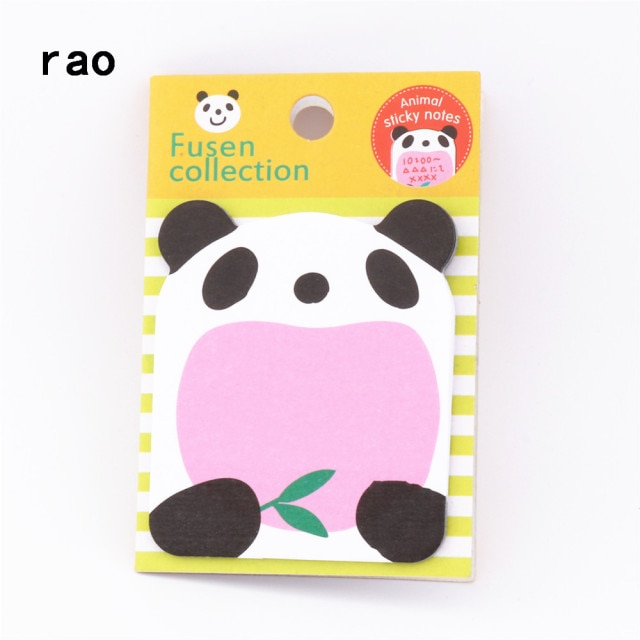 Charming 070 Animal Series Memo Pad Sticky Notes Bookmark Point It Sticker Paper office School Supplies Writing Pads Notebooks|Memo Pads| – You-077 13