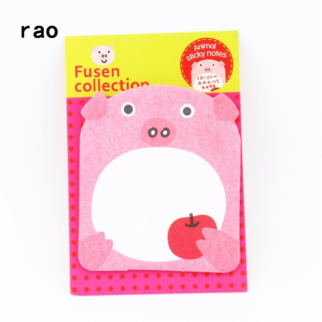 Charming 070 Animal Series Memo Pad Sticky Notes Bookmark Point It Sticker Paper office School Supplies Writing Pads Notebooks|Memo Pads| – You-078 14