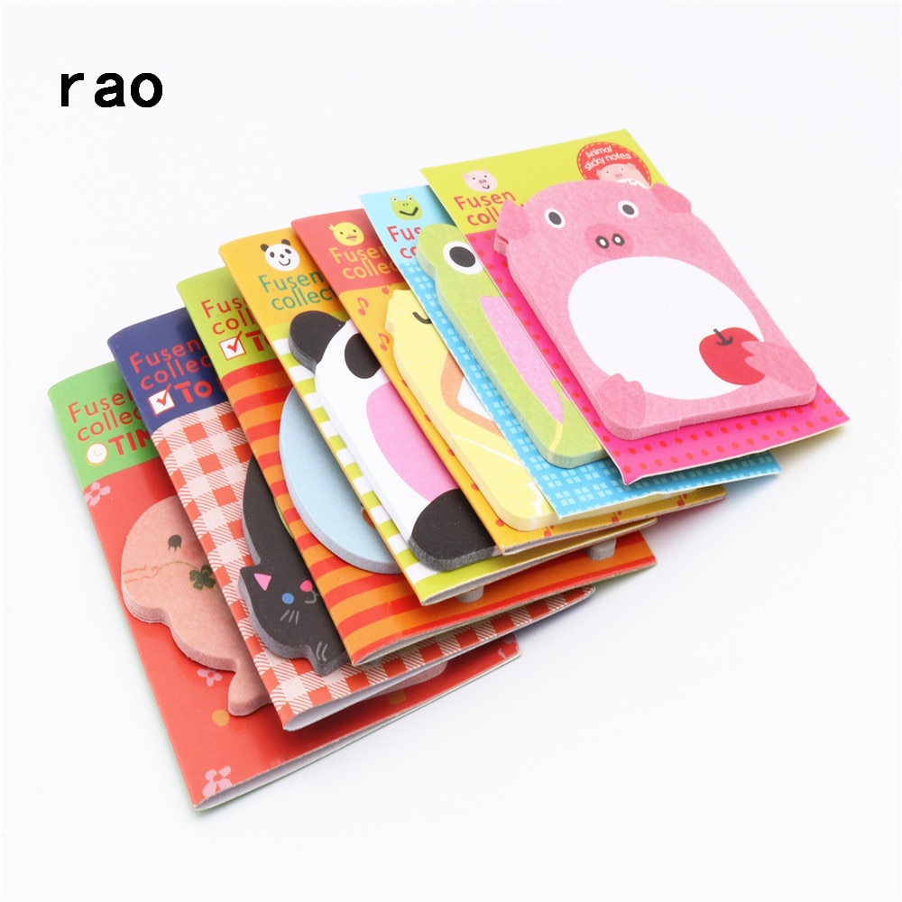 Charming 070 Animal Series Memo Pad Sticky Notes Bookmark Point It Sticker Paper office School Supplies Writing Pads Notebooks|Memo Pads| 1