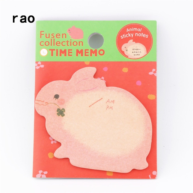Charming 070 Animal Series Memo Pad Sticky Notes Bookmark Point It Sticker Paper office School Supplies Writing Pads Notebooks|Memo Pads| – You-071 7