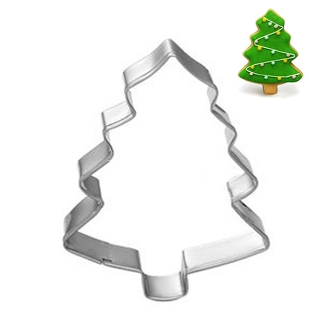 Hot 1PC Kitchen Cookie Cutter Cat Shaped Aluminium Mold Sugarcraft Cake Cookies Pastry Baking Cutter Mould Cake Decorating Tools Cookie Tools  – Christmas Tree 19