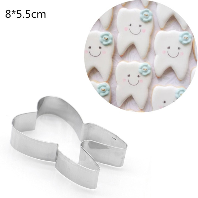 Hot 1PC Kitchen Cookie Cutter Cat Shaped Aluminium Mold Sugarcraft Cake Cookies Pastry Baking Cutter Mould Cake Decorating Tools Cookie Tools  – Teeth 23