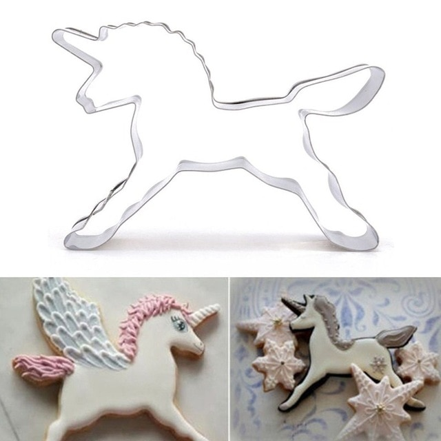 Hot 1PC Kitchen Cookie Cutter Cat Shaped Aluminium Mold Sugarcraft Cake Cookies Pastry Baking Cutter Mould Cake Decorating Tools Cookie Tools  – Unicorn Horse 24