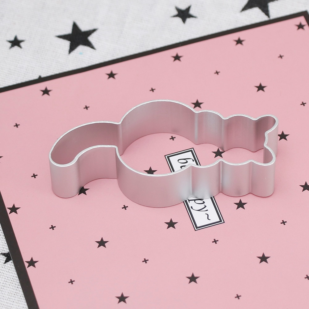 Hot 1PC Kitchen Cookie Cutter Cat Shaped Aluminium Mold Sugarcraft Cake Cookies Pastry Baking Cutter Mould Cake Decorating Tools Cookie Tools  3