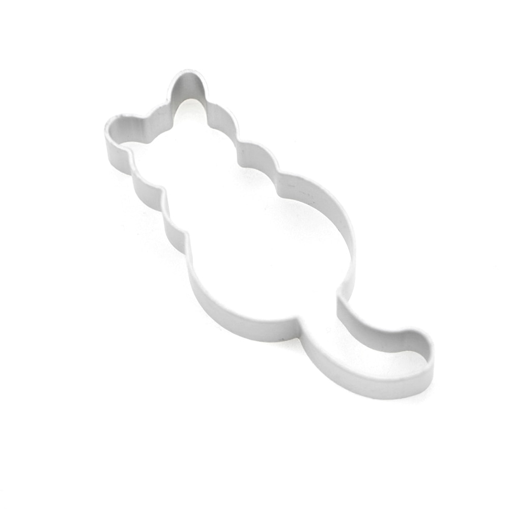 Hot 1PC Kitchen Cookie Cutter Cat Shaped Aluminium Mold Sugarcraft Cake Cookies Pastry Baking Cutter Mould Cake Decorating Tools Cookie Tools  6