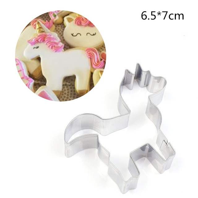 Hot 1PC Kitchen Cookie Cutter Cat Shaped Aluminium Mold Sugarcraft Cake Cookies Pastry Baking Cutter Mould Cake Decorating Tools Cookie Tools  – Unicorn 13
