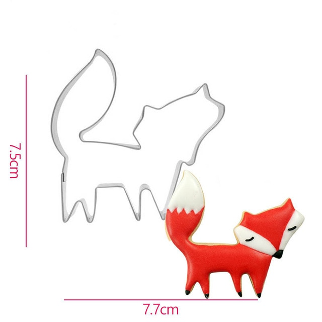 Hot 1PC Kitchen Cookie Cutter Cat Shaped Aluminium Mold Sugarcraft Cake Cookies Pastry Baking Cutter Mould Cake Decorating Tools Cookie Tools  – Fox 14