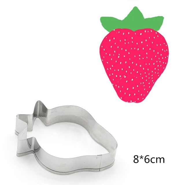 Hot 1PC Kitchen Cookie Cutter Cat Shaped Aluminium Mold Sugarcraft Cake Cookies Pastry Baking Cutter Mould Cake Decorating Tools Cookie Tools  – Strawberry 16