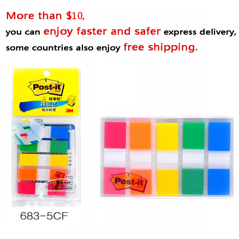 Removable indicator label 683 9CF/6CF/5CF color pagination label memo pad sticky notes 3M post it Big Brands Are Trustworthy|Memo Pads| 2