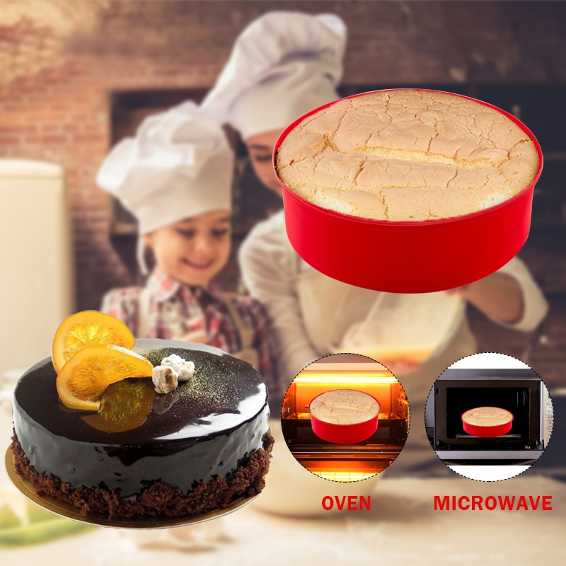 Round Silicone Cake Mold 4 6 8 10 Inch Silicone Mould Baking Forms Silicone Baking Pan For Pastry Cake Cake Molds  4