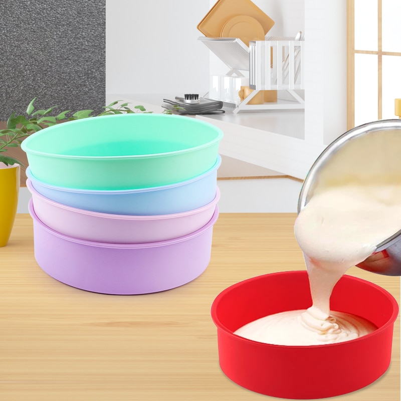 Round Silicone Cake Mold 4 6 8 10 Inch Silicone Mould Baking Forms Silicone Baking Pan For Pastry Cake Cake Molds  1