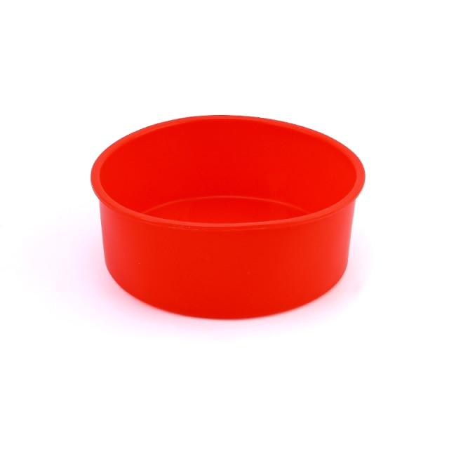 Round Silicone Cake Mold 4 6 8 10 Inch Silicone Mould Baking Forms Silicone Baking Pan For Pastry Cake Cake Molds  – Red 11