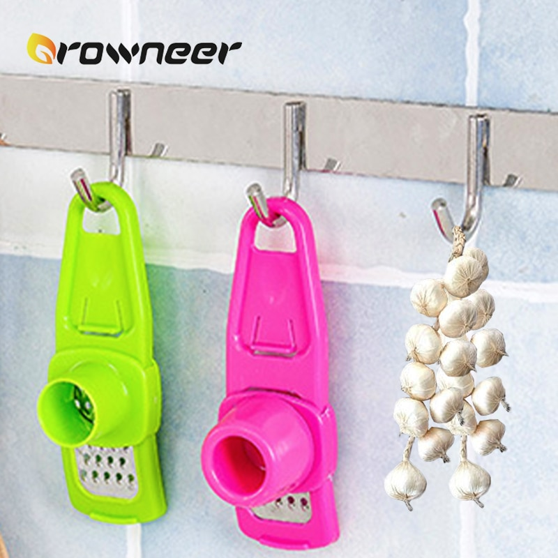 Stainless Steel PP Garlic Presses Ginger Cutter Candy Color Plastic Grinding Tool Microplaner Planer Kitchen Grater Grinder Garlic Presses  3