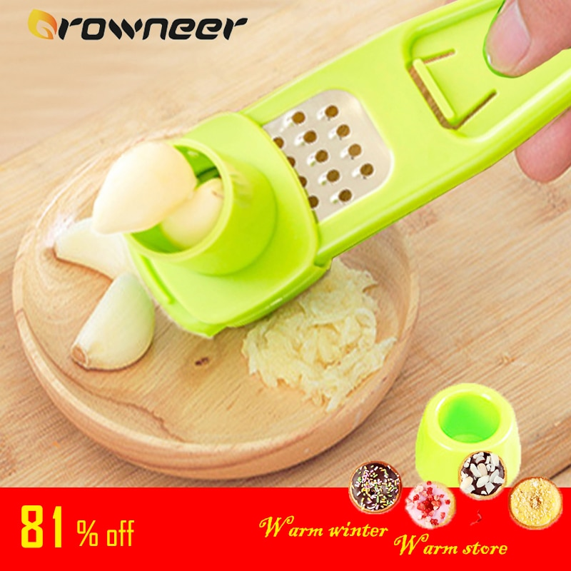 Stainless Steel PP Garlic Presses Ginger Cutter Candy Color Plastic Grinding Tool Microplaner Planer Kitchen Grater Grinder Garlic Presses  1