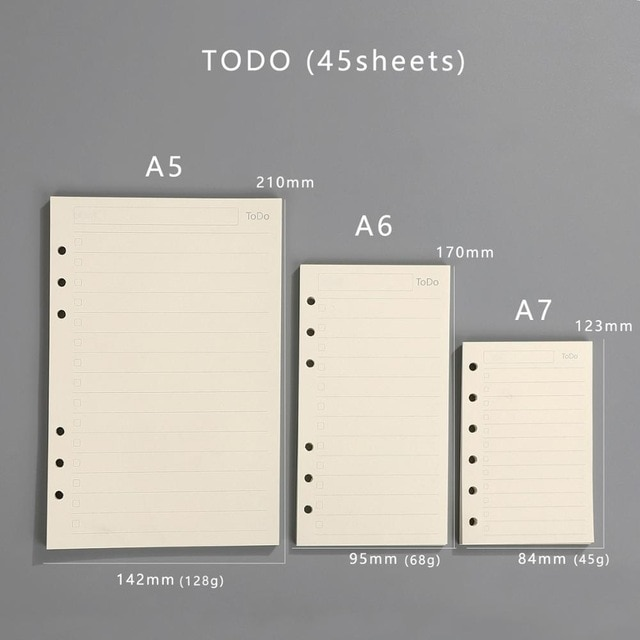 Transparent loose leaf binder loose strap loose leaf inner core A6 A7 note book journal a5 planner office supplies|a7 notebook|a5 plannerloose leaf binder – TODO 8