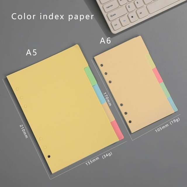 Transparent loose leaf binder loose strap loose leaf inner core A6 A7 note book journal a5 planner office supplies|a7 notebook|a5 plannerloose leaf binder – Indexes 24