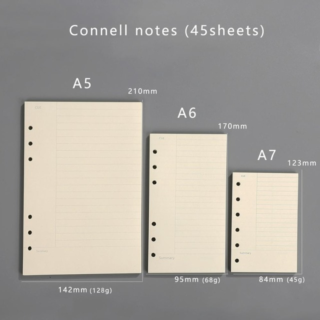 Transparent loose leaf binder loose strap loose leaf inner core A6 A7 note book journal a5 planner office supplies|a7 notebook|a5 plannerloose leaf binder – connell notes 12